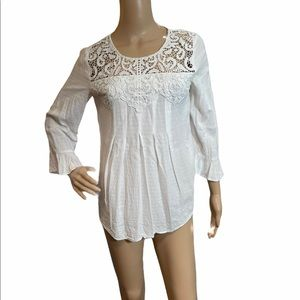 Vintage America White Top, Size Small